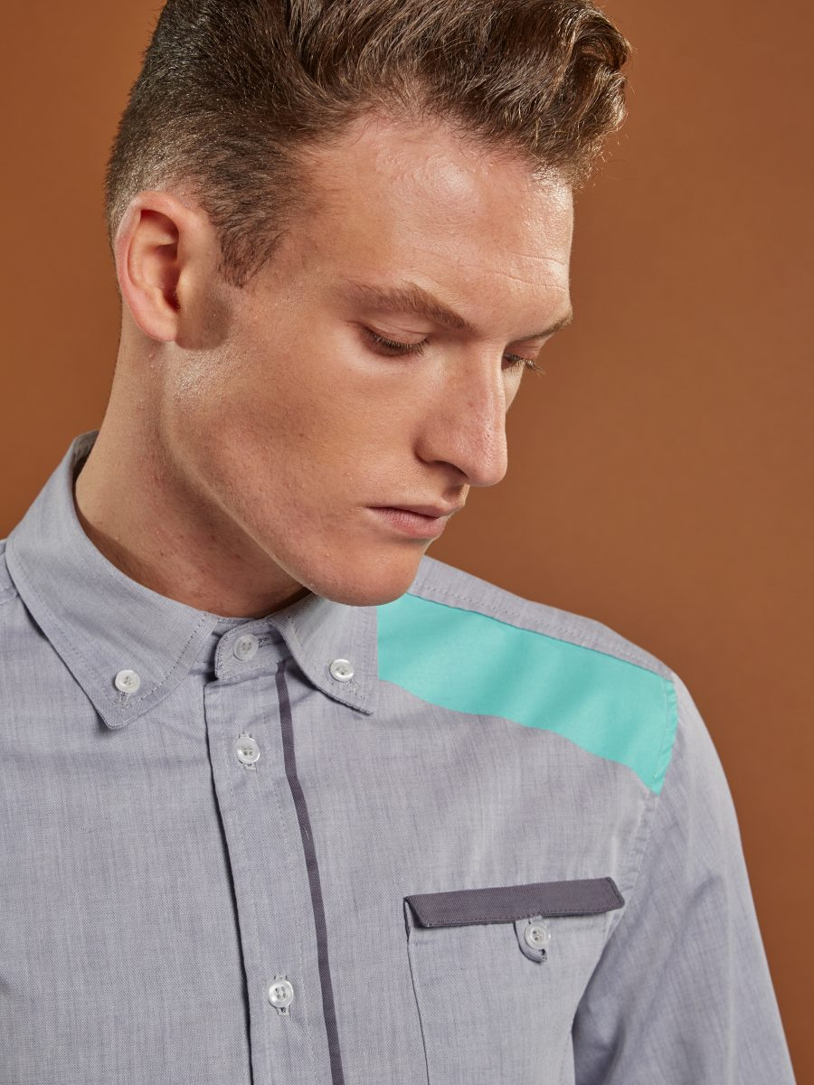 Here East - Security Shirt - Printed Panel Detail