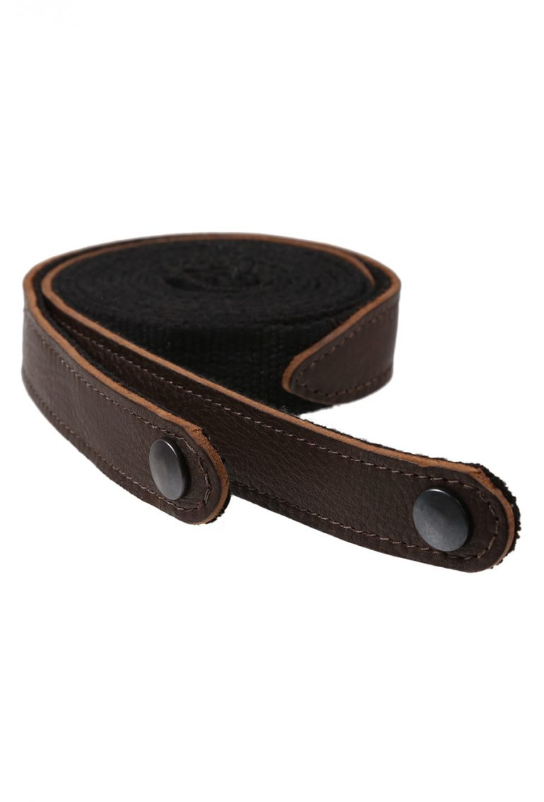 AC011 Strap - Dark Brown Leather with black webbing for AP096