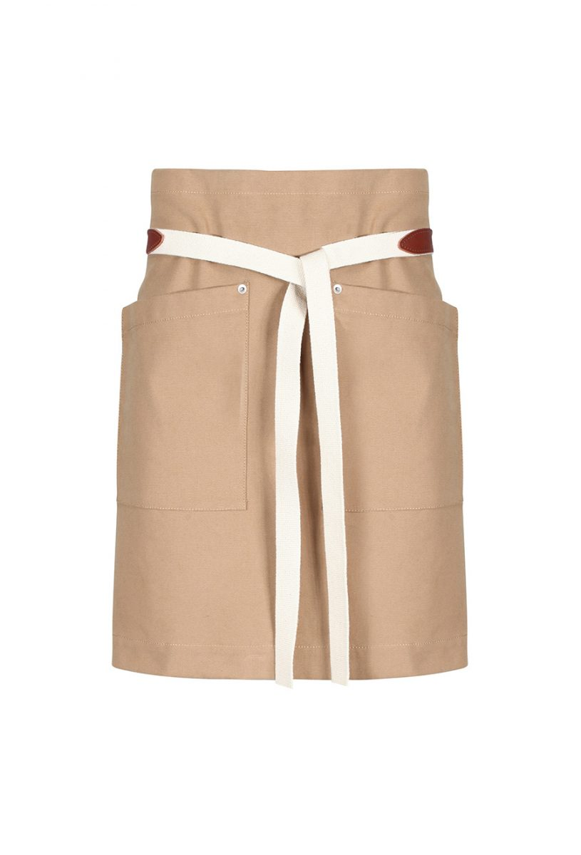 AP097U Tan End To End Waistdown Apron